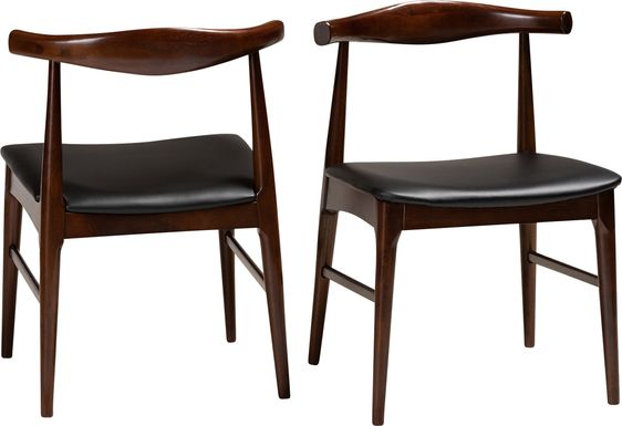 Eberhart Black Side Chair, Set of 2
