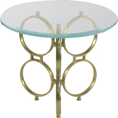 Ecksminster Gold Side Table