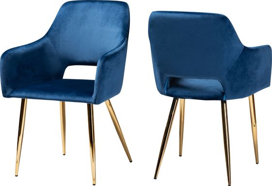 Eden Croft Blue Side Chair, Set of 2