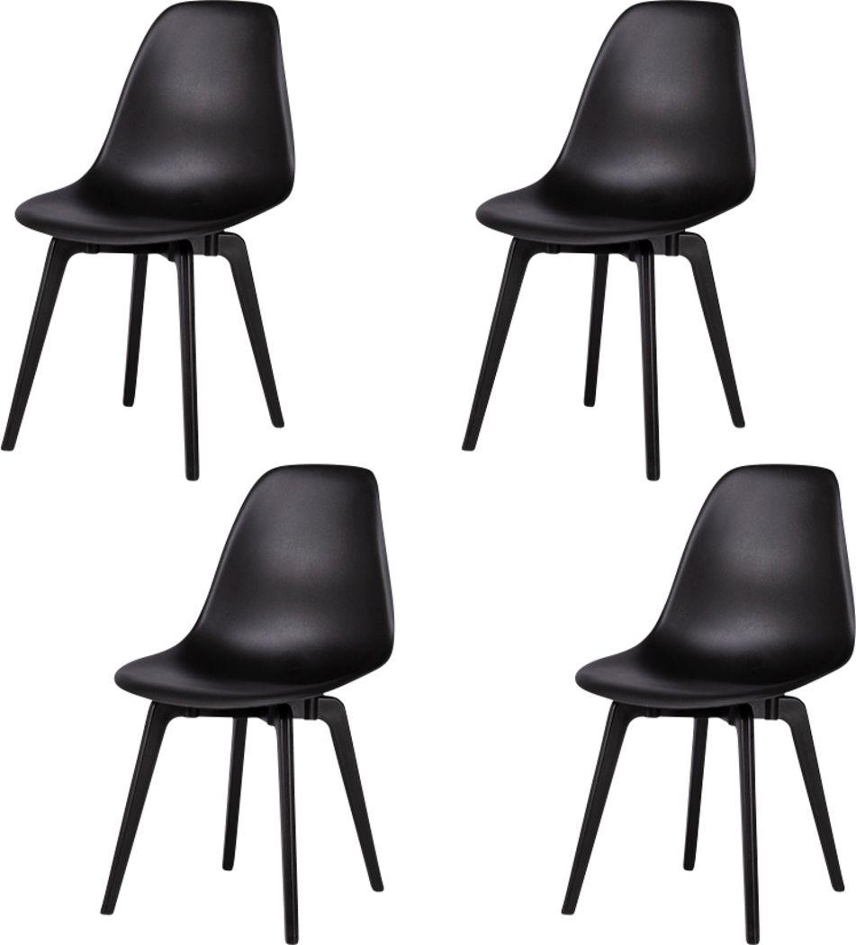 Edenpark Black Dining Chair, Set of 4