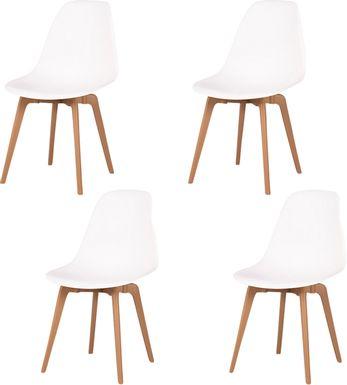 Edenpark White Dining Chair, Set of 4