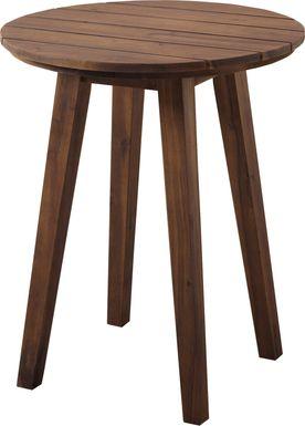Ederville Dark Brown Outdoor End Table