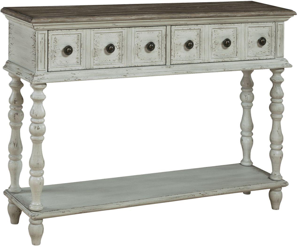 Edgartown Landing White Sofa Table
