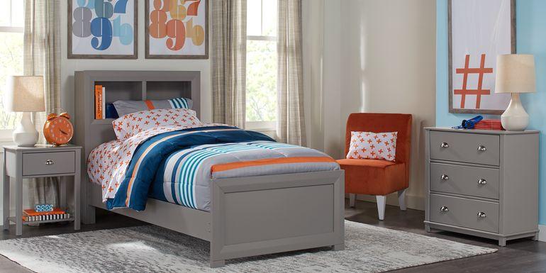 Kids Edgegrove Gray 2 Pc Twin Bookcase Bedroom