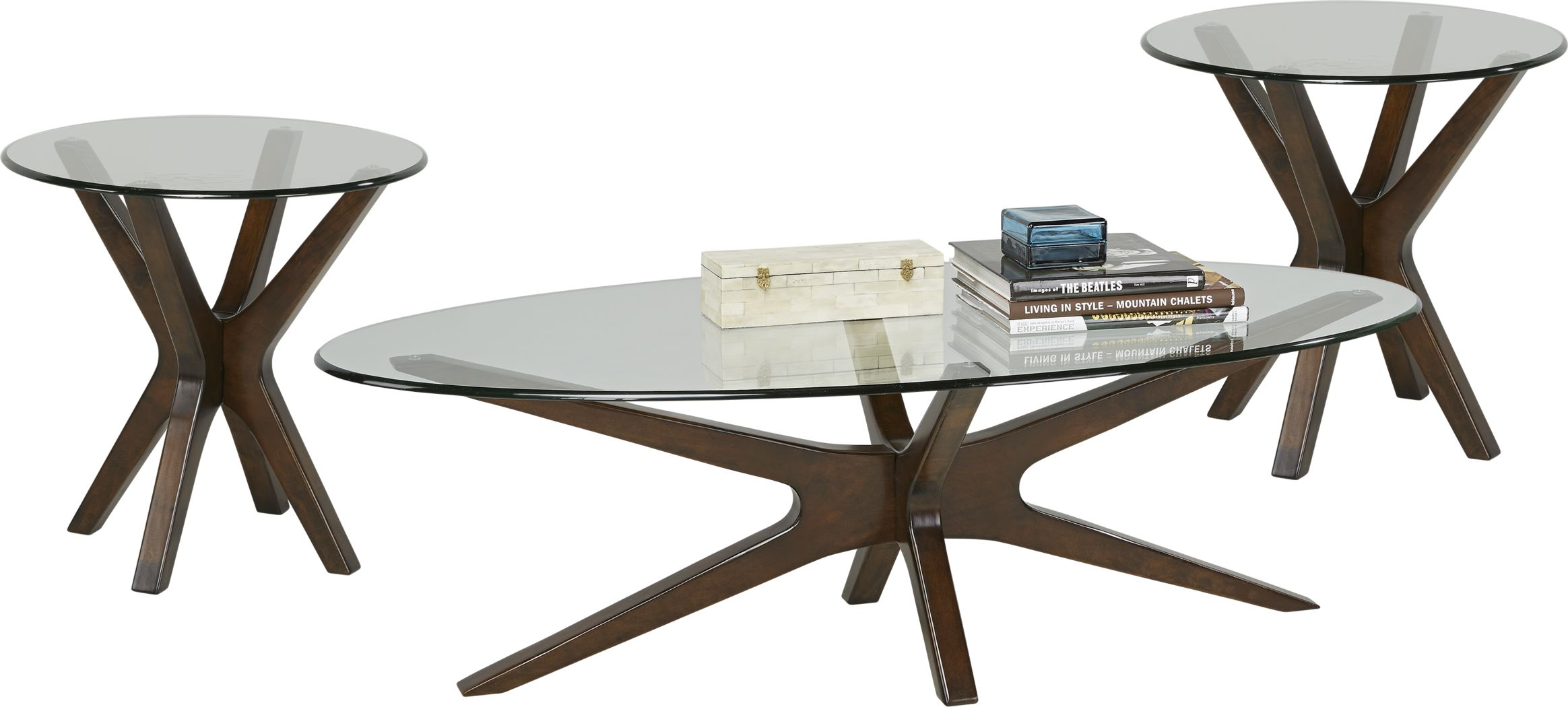 Edina Cherry 3 Pc Table Set