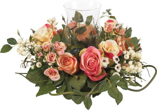 Editha Green Rose Silk Floral