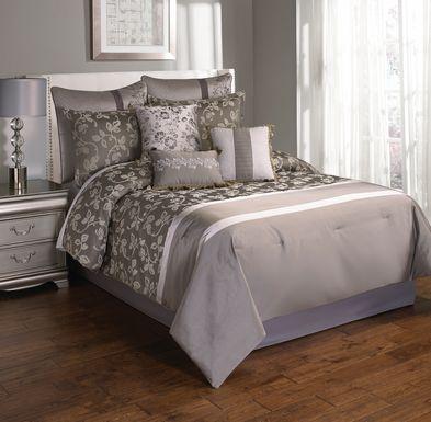 Ediva Platinum 10 Pc King Comforter Set