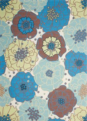 Edria Light Blue 8' x 11' Indoor/Outdoor Rug