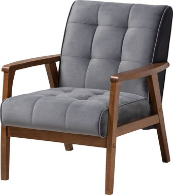 Eilla Gray Accent Chair