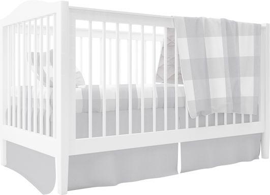 Elby Gray 3 Pc Baby Bedding Set