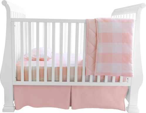 Elby Pink 3 Pc Baby Bedding Set