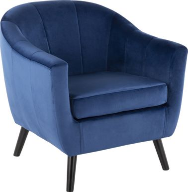 Eldert Blue Accent Chair