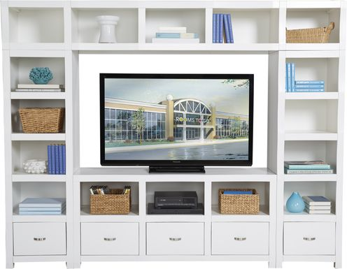 Eldon Square White 4 Pc Wall Unit