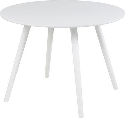 Elgen White Round Dining Table