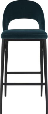 Elias Court Teal Barstool