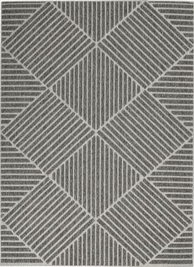 Elize Dark Gray 8' x 10' Indoor/Outdoor Rug