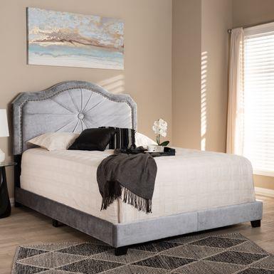 Elkdale Gray Queen Upholstered Bed