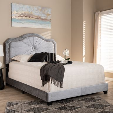 Elkdale Gray Queen Upholstered Bed