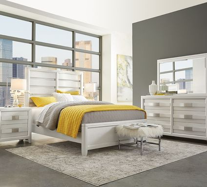 Elliot Park Platinum 5 Pc King Panel Bedroom