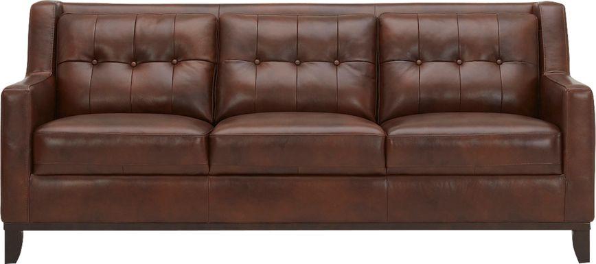 Ellora Brown Leather Sofa