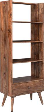 Ellsperry Brown Bookcase