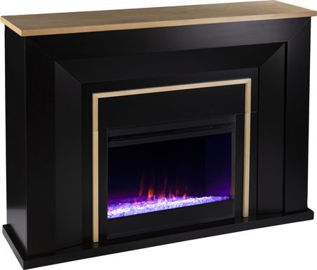 Elmington I Black 52 in. Console, With Electric Fireplace