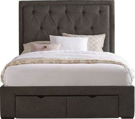 Elridge Granite 3 Pc King Upholstered Bed with 2 Drawer Storage