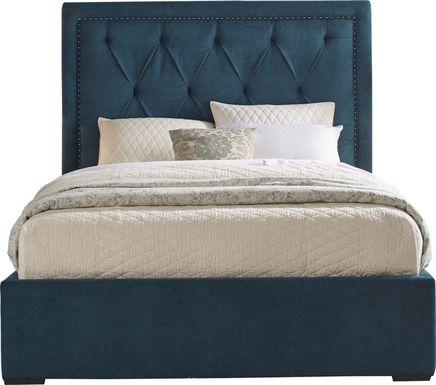 Elridge Teal 3 Pc King Upholstered Bed