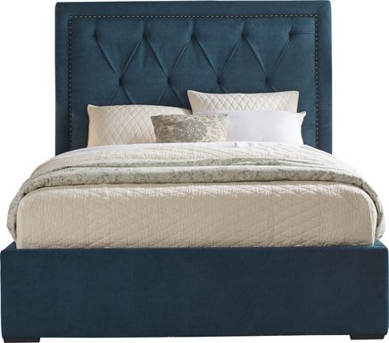 Elridge Teal 3 Pc Queen Upholstered Bed
