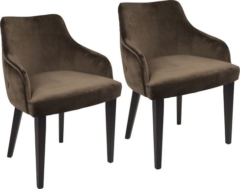 Elsetta Brown Dining Chair (Set of 2)