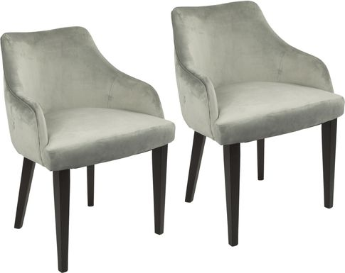 Elsetta Gray Dining Chair (Set of 2)