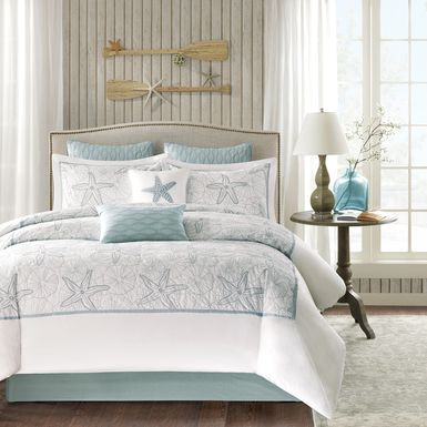 Emaline White 4 Pc California King Comforter Set