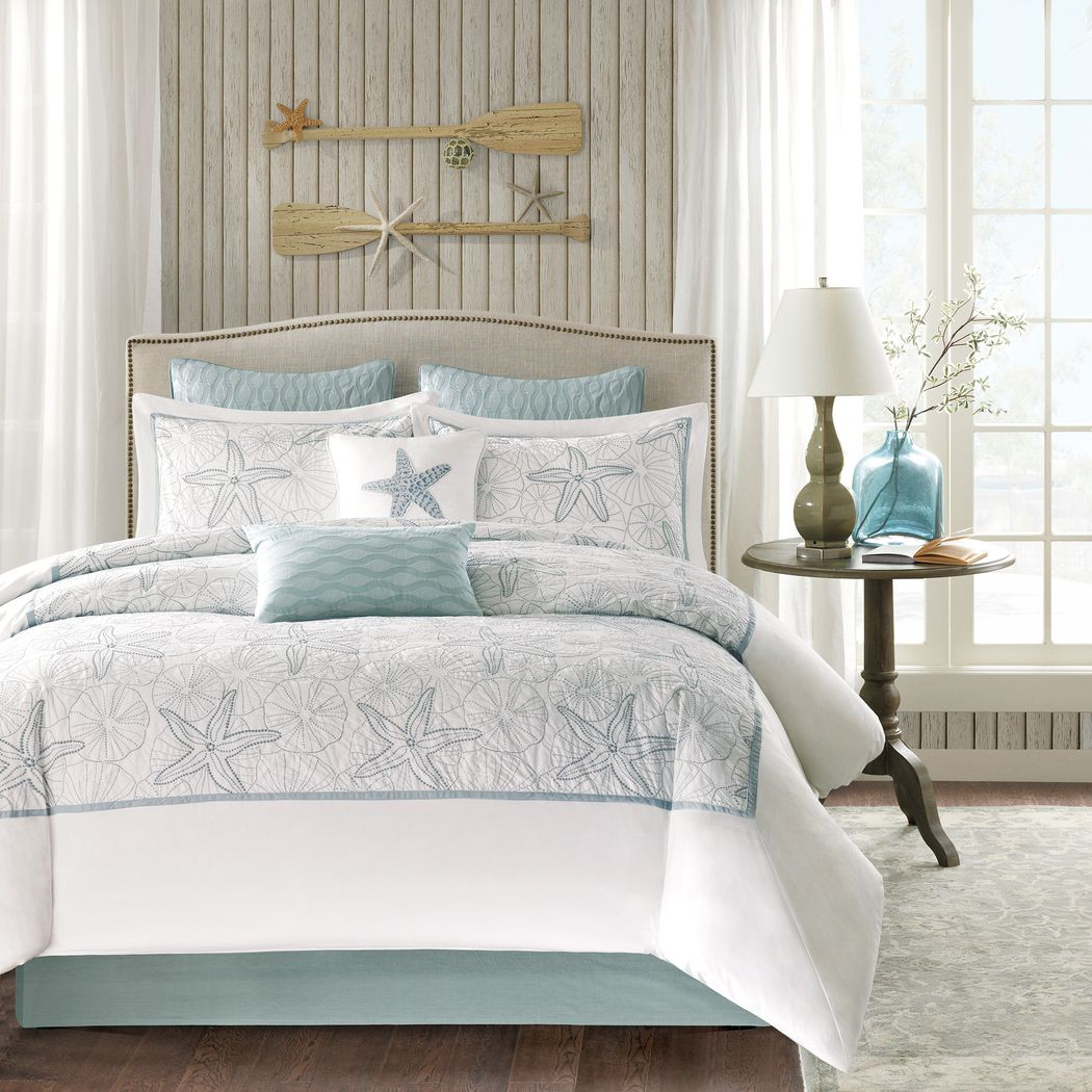 Emaline White 4 Pc California King Comforter Set