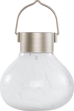 Emberley White Outdoor Solar Lantern