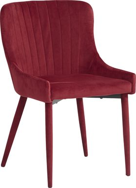 Emeric Bordeaux Side Chair