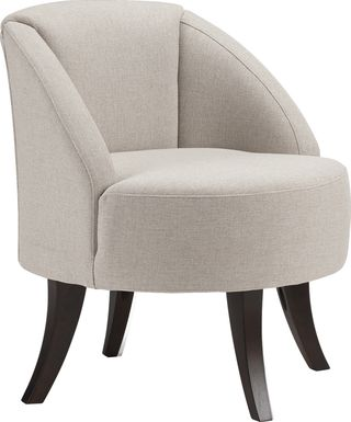 Emmorton Beige Accent Swivel Chair