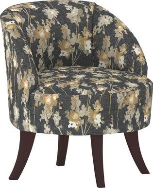 Emmorton Black Accent Swivel Chair