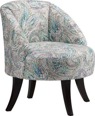 Emmorton Blue Accent Swivel Chair