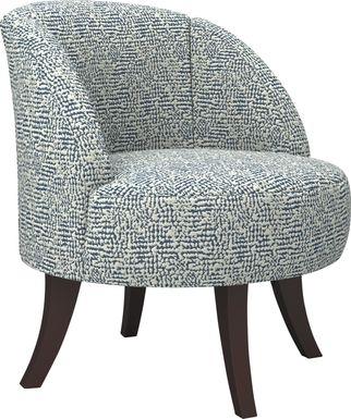 Emmorton Dark Blue Accent Swivel Chair