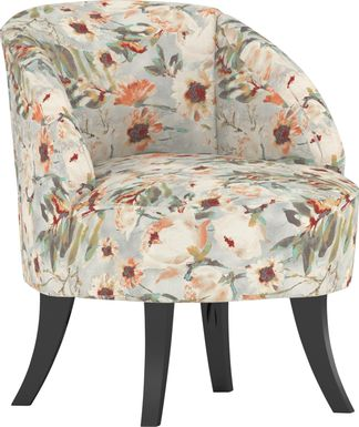 Emmorton Light Beige Accent Swivel Chair