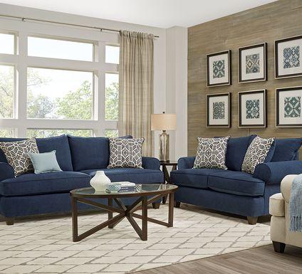 Emsworth Navy 5 Pc Living Room