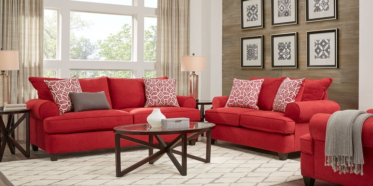 Emsworth Scarlet 5 Pc Living Room