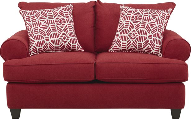 Emsworth Scarlet Loveseat