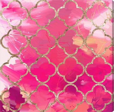 Enchanting View Pink Artwork