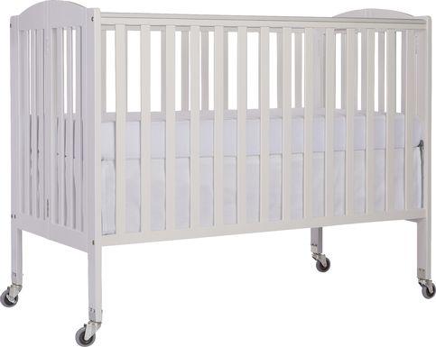 Ensly White Full Folding Crib