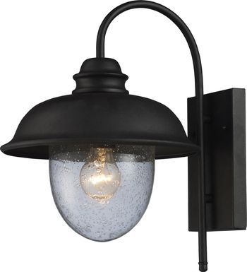Enston Black Outdoor Wall Sconce
