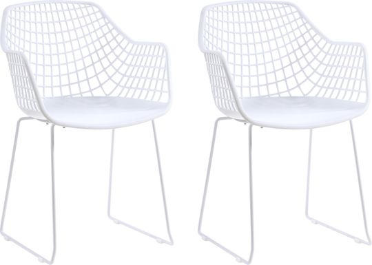 Outdoor Epperson White Chair, Set of 2