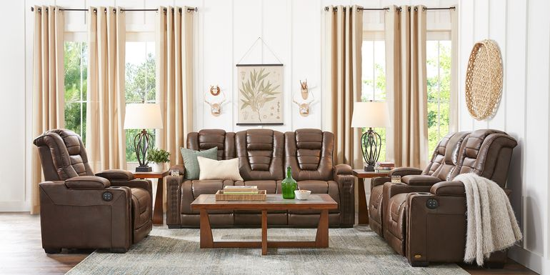 Eric Church Highway To Home Chief Brown 8 Pc Dual Power Reclining Living Room