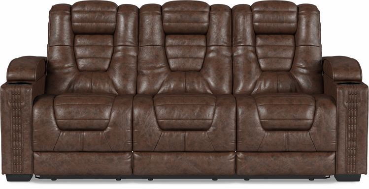 Eric Church Highway To Home Chief Brown Dual Power Reclining Sofa
