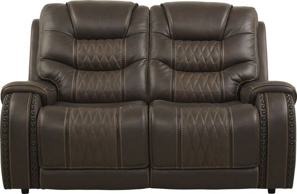 Eric Church Highway To Home Headliner Brown Leather Loveseat